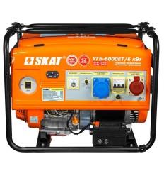 SKAT УГБ-6000EТ/ 6 кВт Трехфазный бензо-генератор мощностью 6 кВт с усиленной 6 кВт фазой