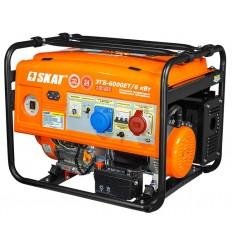 SKAT УГБ-6000EТ/6 кВт Трехфазный бензо-генератор мощностью 6 кВт с усиленной 6 кВт фазой