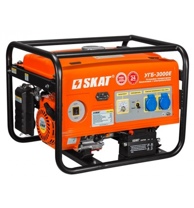 УГБ-3000Е SKAT Бензо-генератор 3 кВт с электрозапуском для дачи