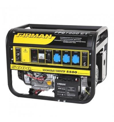 Генератор бензиновый Firman FPG7800E1 мощность 5.0/5.5кВт