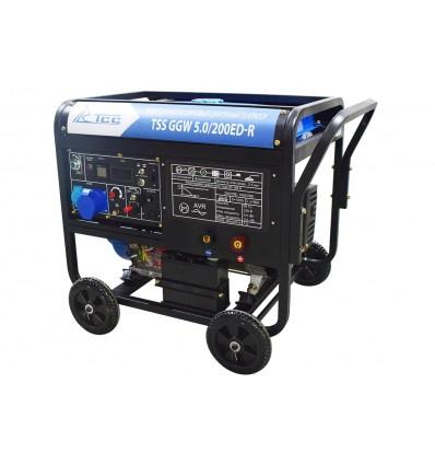 Инверторный бензиновый сварочный генератор TSS GGW 5.0/200ED-R