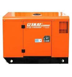 SKAT УГД-10000ЕК Однофазный дизельный генератор в кожухе, 9 кВт