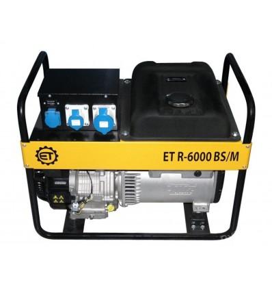 Бензиновая однофазная электростанция ET R-6000 BS/M, генератор 6 кВт