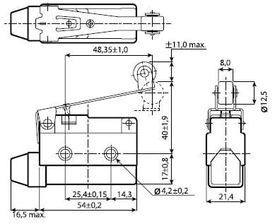 ЭНЕРГИЯ AZ-7121 (Е1104-0020) концевой выключатель